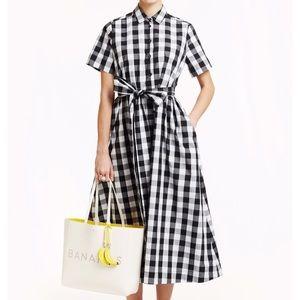Kate Spade gingham maxi dress